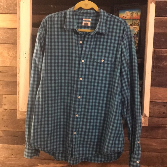 Old Navy Other - Teal and royal Button up dress shirt